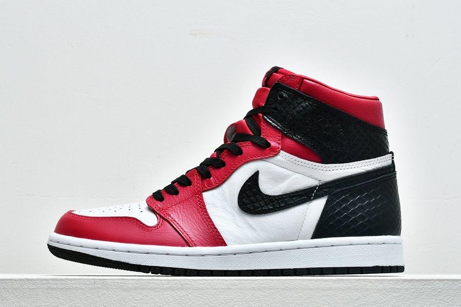 Air Jordan 1 High OG Satin Snake Gym Red White-Black For Sale