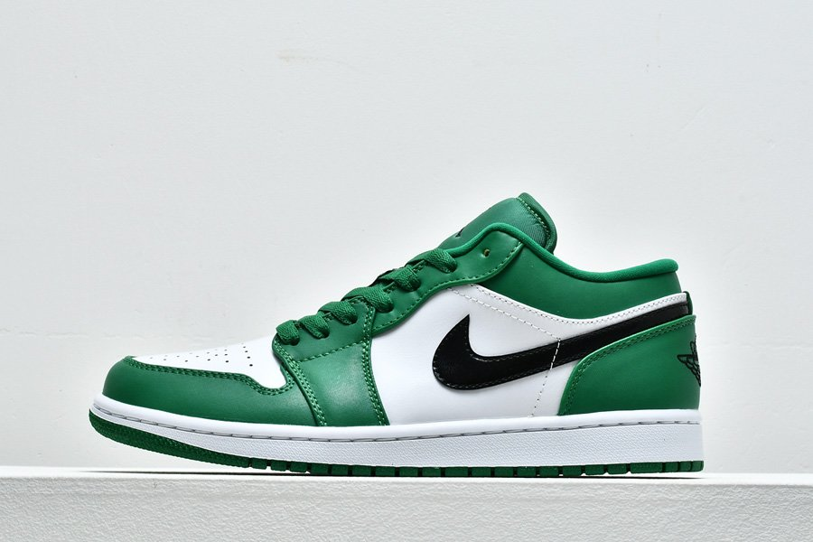 Air Jordan 1 Low Pine Green Black-White 553558-301 For Sale