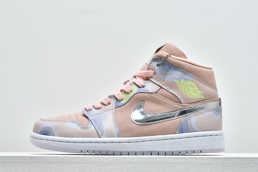 Air Jordan 1 Mid SE WMNS P(HER)SPECTIVE Washed Coral For Sale
