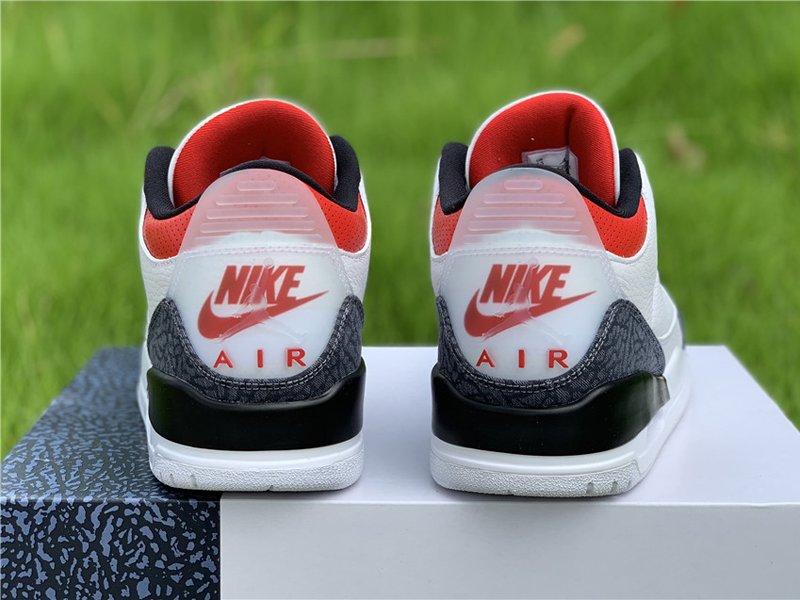 Air Jordan 3 SE Denim Fire Red CZ6431-100 Heel