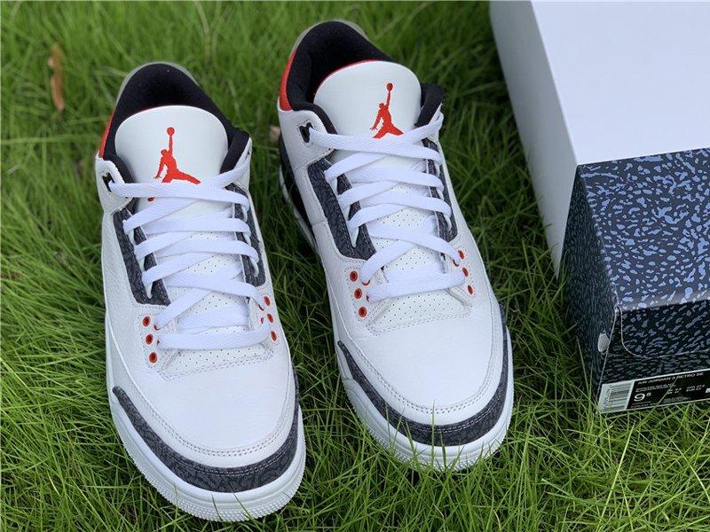 Air Jordan 3 SE Denim Fire Red CZ6431-100 Top
