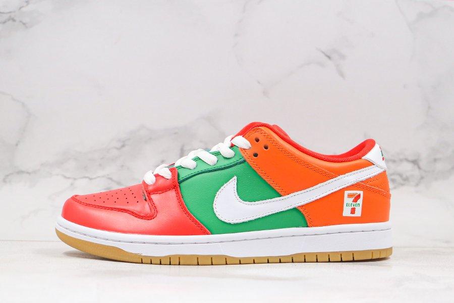 Buy 7-Eleven x Nike SB Dunk Low Orange Green Red Online