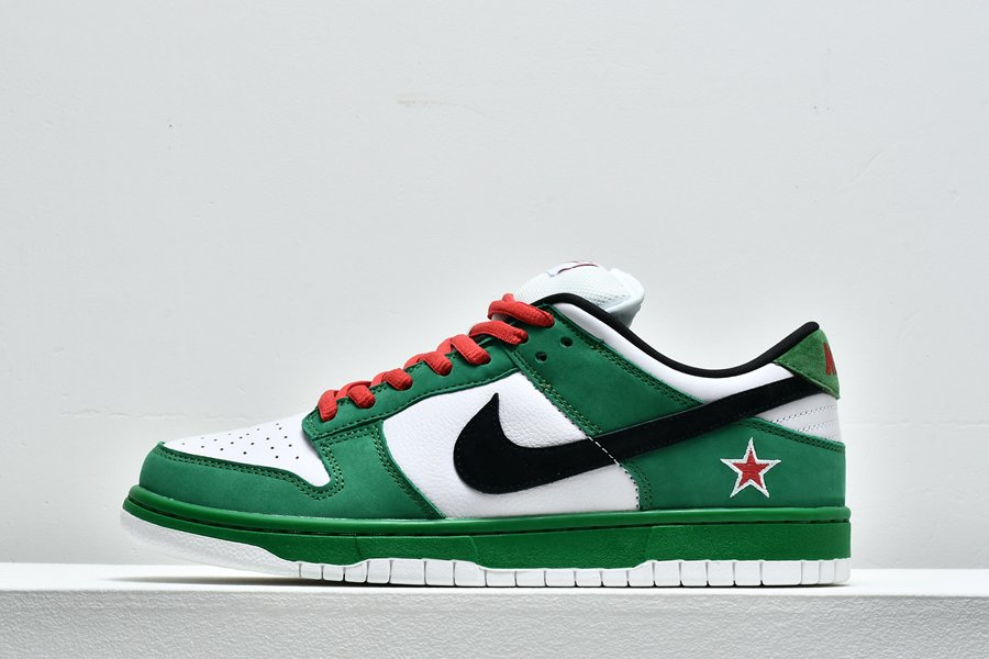Buy Nike Dunk Low Pro SB Heineken Classic Green Black-White-Red
