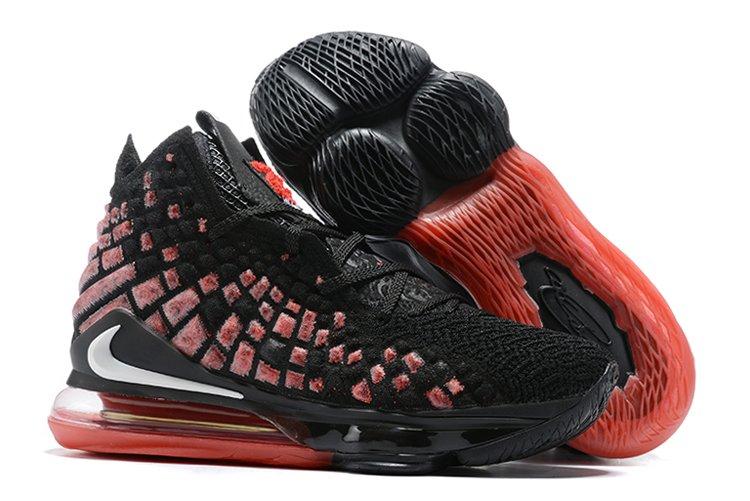 Buy Nike LeBron 17 Infrared Black White-University Red Online