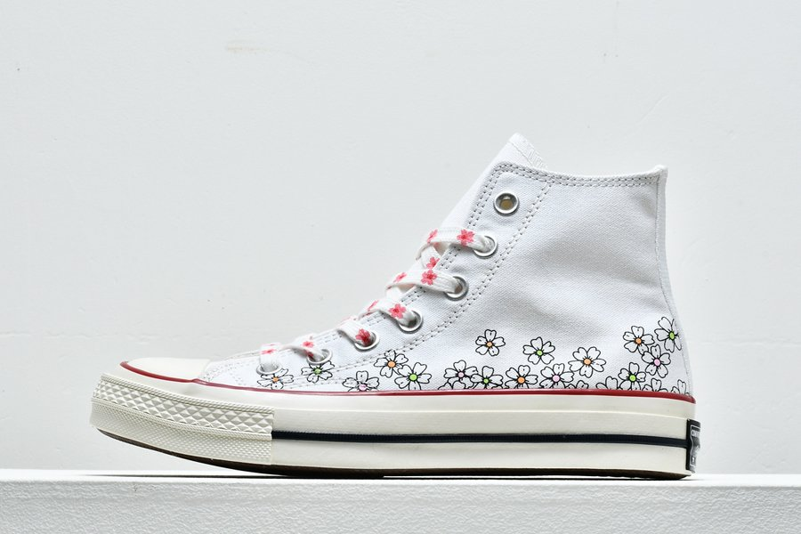 Ladies Converse Chuck Taylor All-Star High Tops Flowers Prints