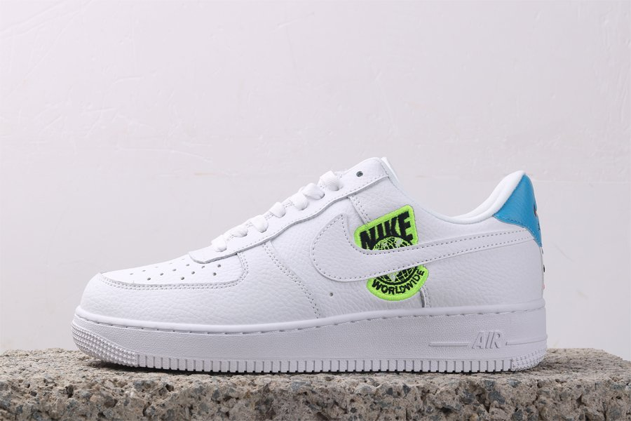 Nike Air Force 1 07 SE Worldwide White Volt Blue Outlet