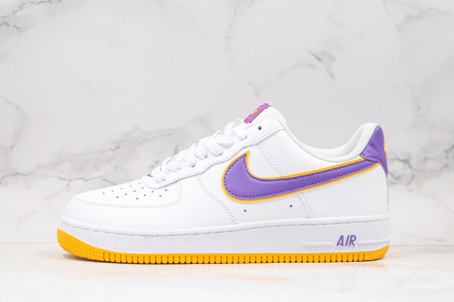 Nike Air Force 1 Low Lakers White Purple Yellow To Buy