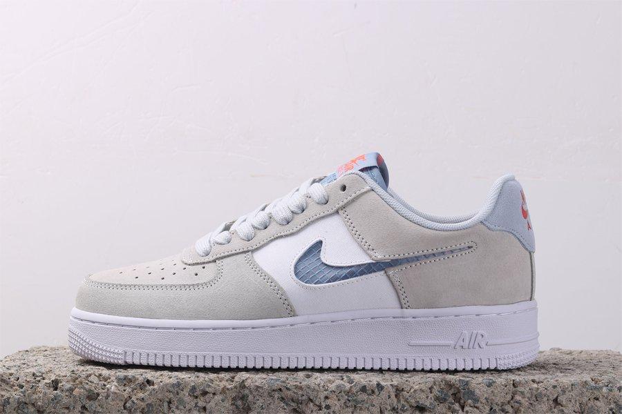 Nike Air Force 1 Pure Platinum Indigo Fog Out Pas Cher