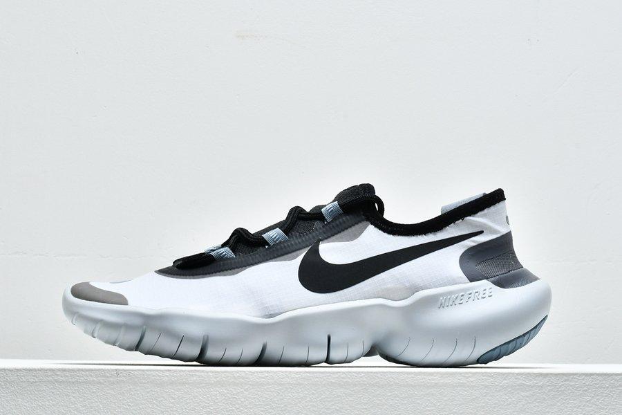 Nike Free RN 5.0 White Obsidian Mist Black Running Shoes For Sale