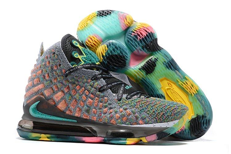 Nike LeBron 17 I Promise Grey Multi-Color To Buy