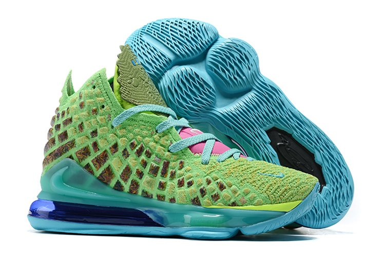 Nike LeBron 17 Mr. Swackhammer Ghost Green Laser Blue For Sale