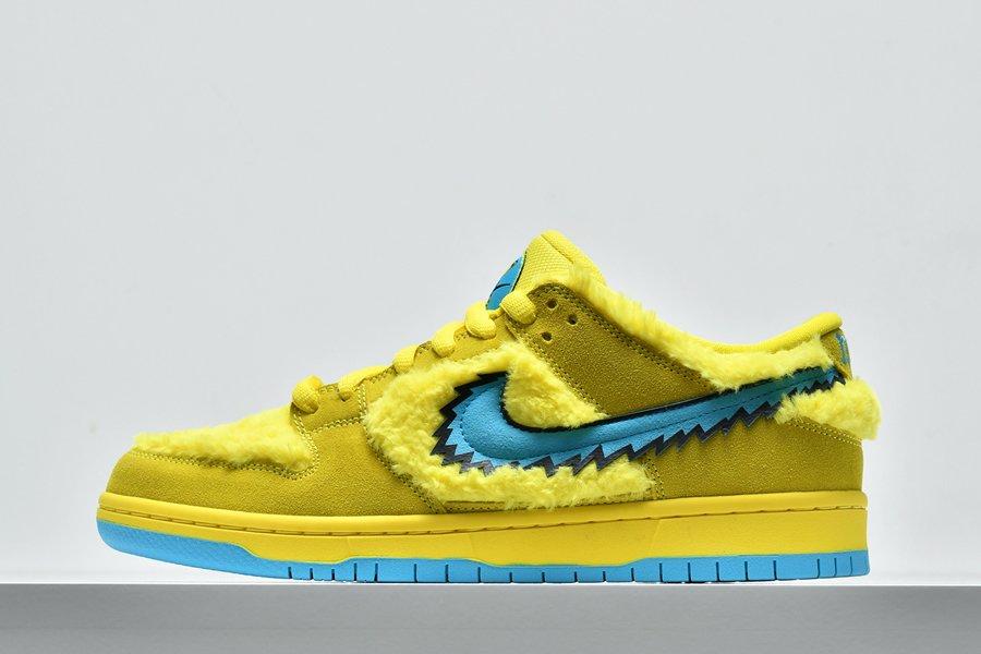 Nike SB Dunk Low Grateful Dead Bears Opti Yellow CJ5378-700 Sale