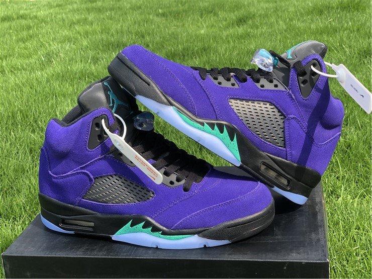 Purple Air Jordan 5 Alternate Grape 136027-500 Cheap Sale