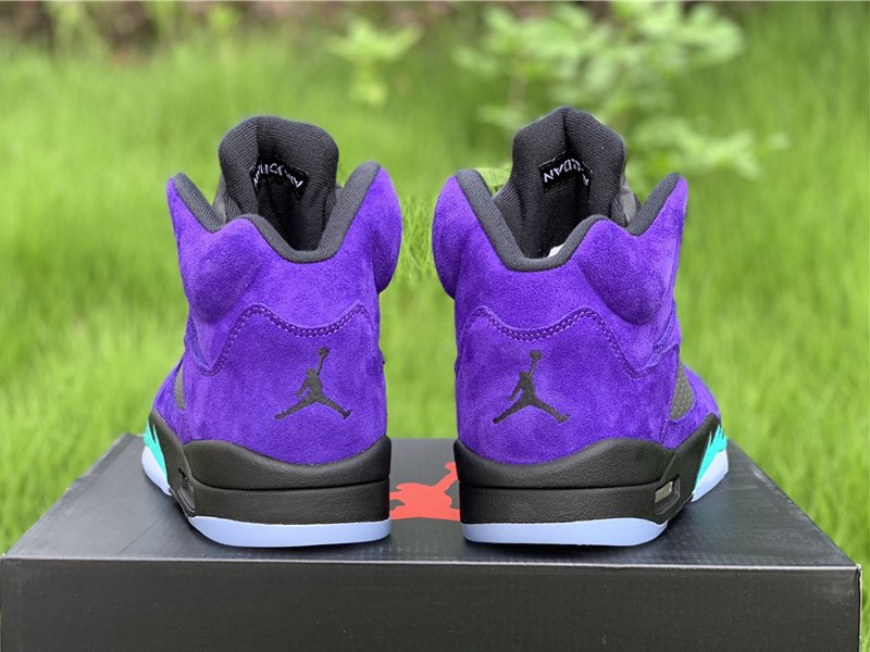 Purple Air Jordan 5 Alternate Grape 136027-500 Heel
