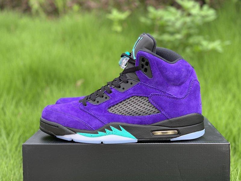 Purple Air Jordan 5 Alternate Grape 136027-500 Left