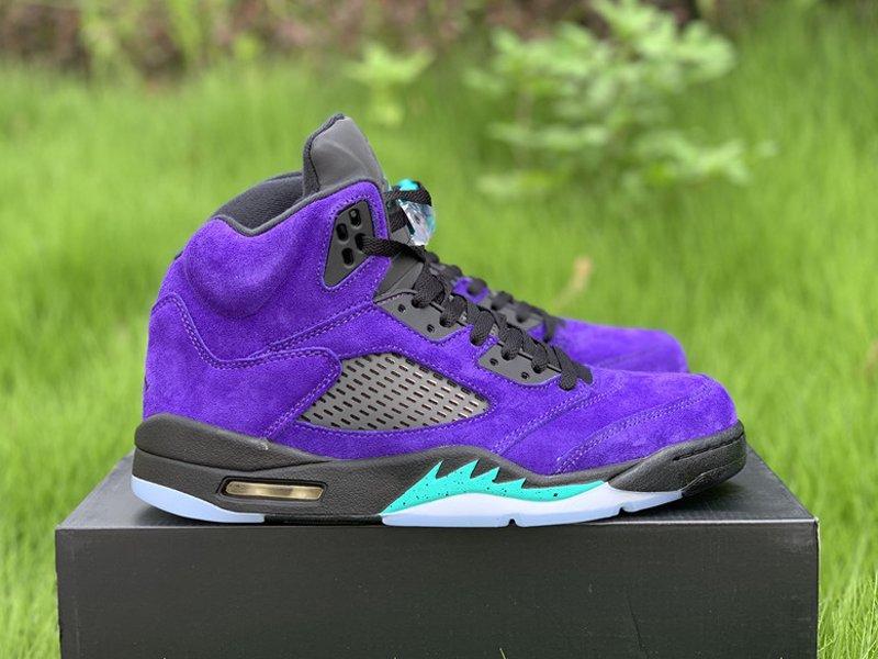 Purple Air Jordan 5 Alternate Grape 136027-500 Right