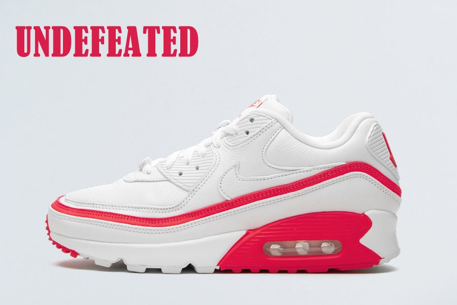 Undefeated x Nike Air Max 90 White Solar Red For Sale