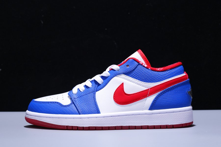 Air Jordan 1 Retro Low East Side White Red Royal 309192-161 For Sale