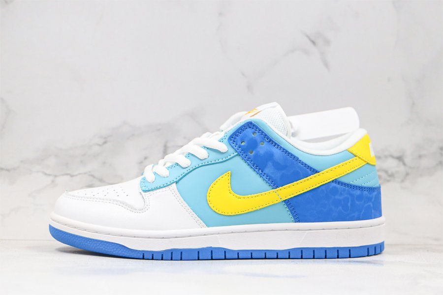 Buy Nike Air Dunk Low Splash Yellow Ochre-Powder Blue-Dark Maroon