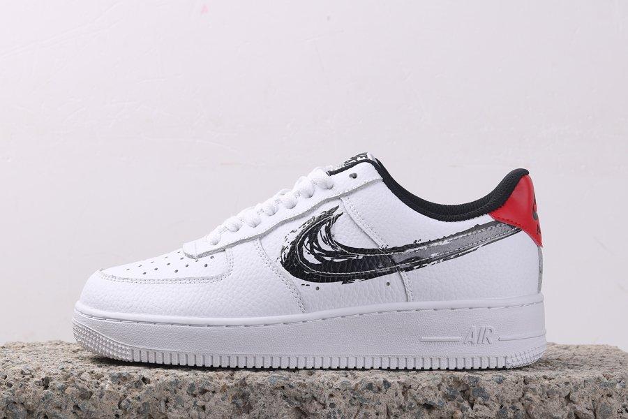 Buy Online Nike Air Force 1 Low Brushstroke In White