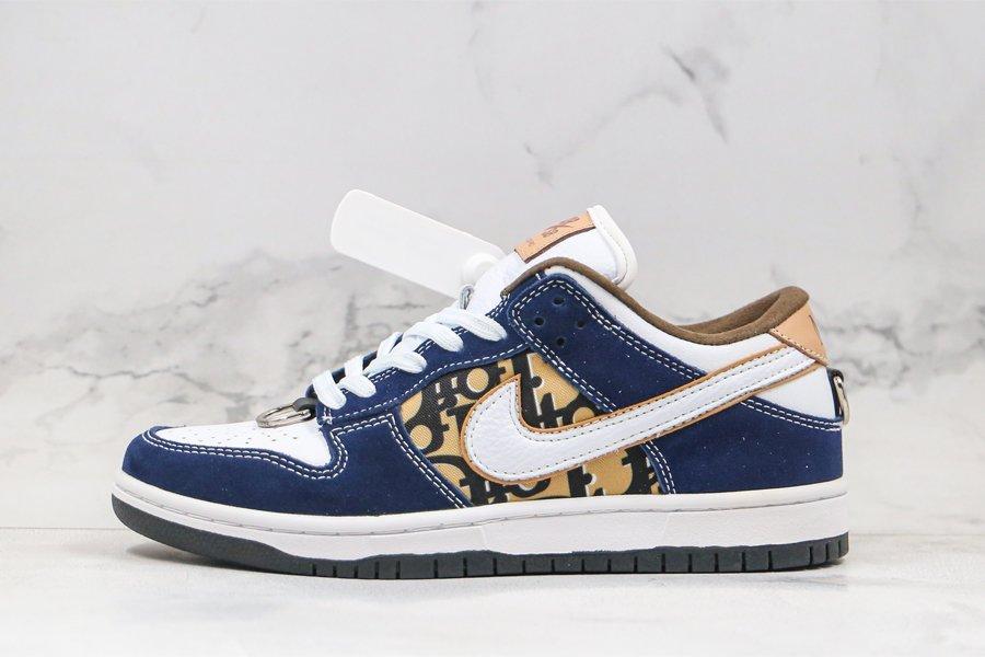 Custom Dior x Nike SB Dunk Low Navy Gold White To Buy