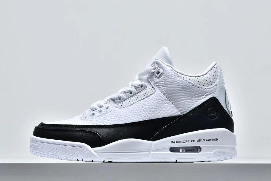 Fragment Design x Air Jordan 3 White Black DA3595-100 For Sale
