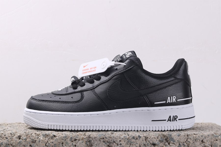 Nike Air Force 1 07 LV8 3 Tape Double Air Black CJ1379-001 For Sale