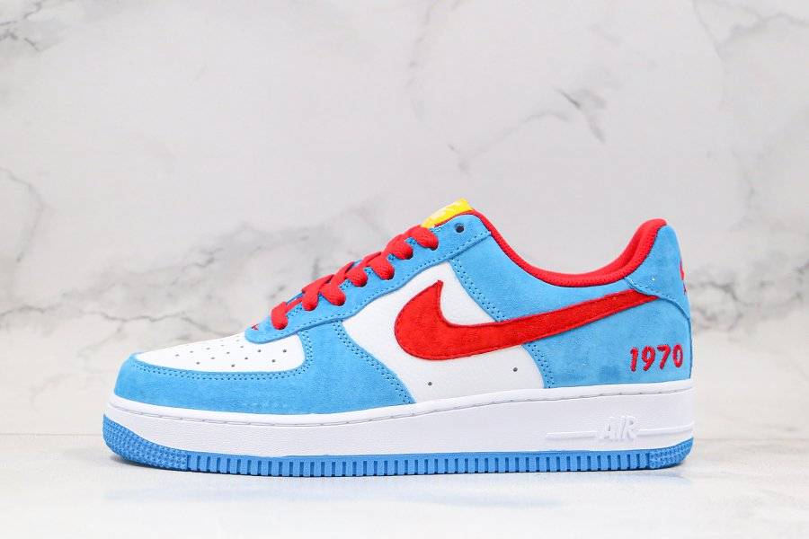 Nike Air Force 1 Low Doraemon Blue White Red For Sale