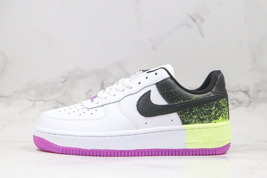 Nike Air Force 1 Low Splatter Barely Volt Fuchsia Glow For Sale