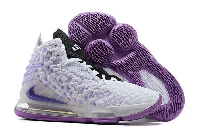 Nike LeBron 17 vs Atlanta Hawks In White Purple