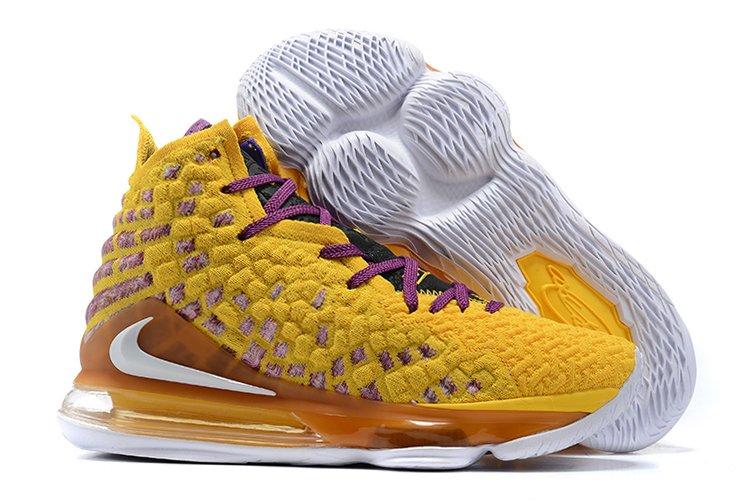 Nike LeBron 17 vs Utah Jazz Yellow Purple To Buy