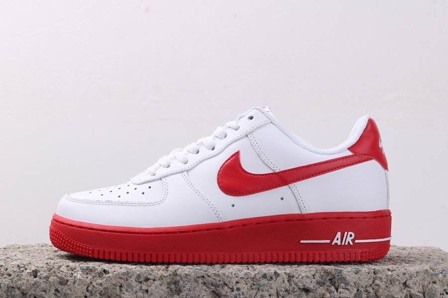 Red-Soled Air Force 1 Lows White University Red CK7663-102 To Buy