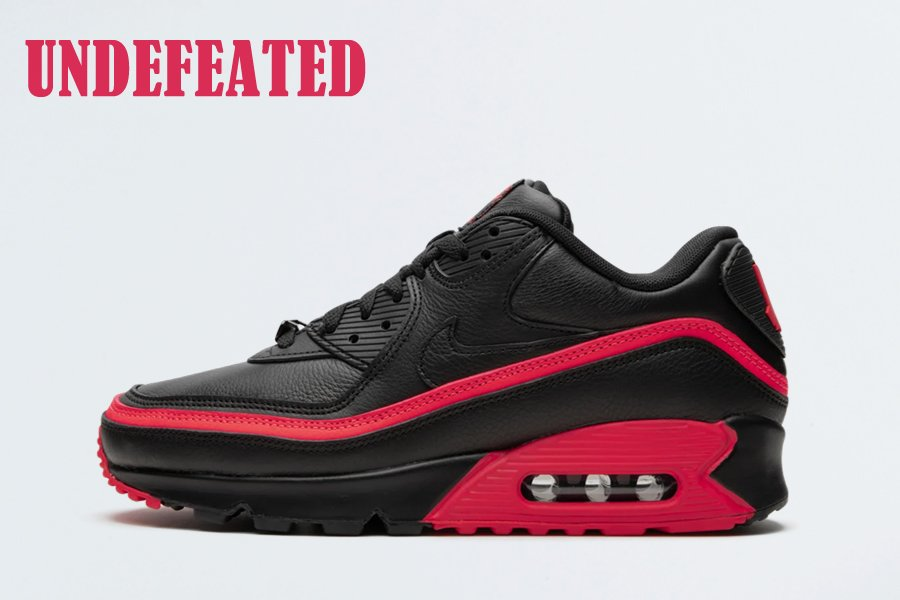 Undefeated x Nike Air Max 90 Black Solar Red CJ7197-003 For Sale