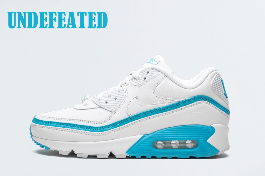 Undefeated x Nike Air Max 90 White Blue Fury CJ7197-102 To Buy