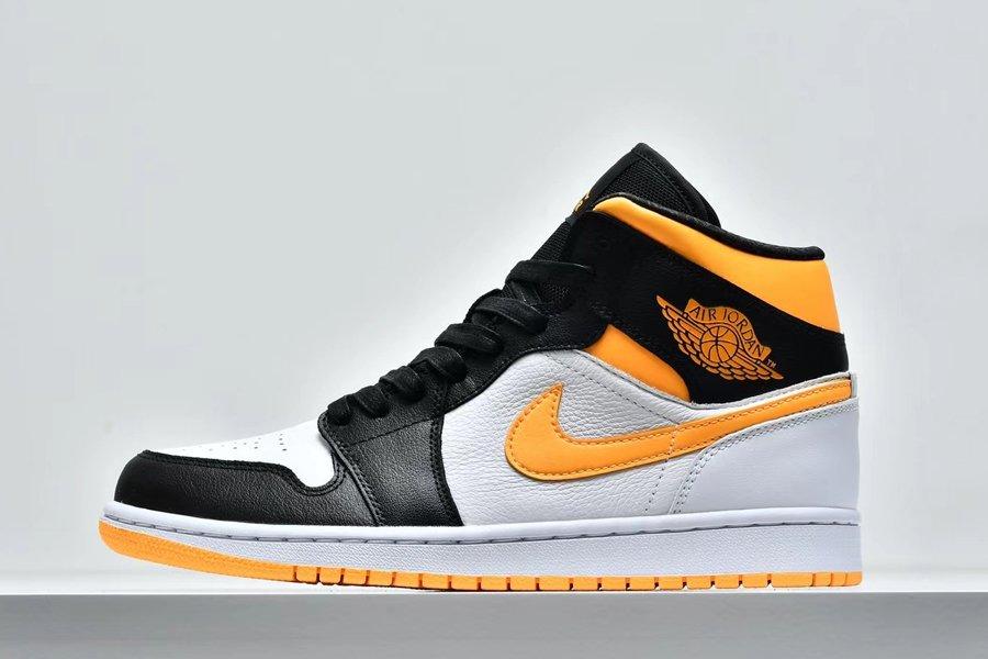 Air Jordan 1 Mid Black Toe White Laser Orange To Buy