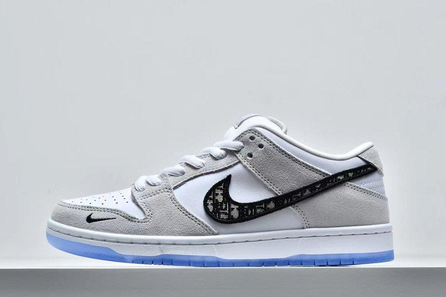 Brand New Dior x Nike SB Dunk Low White Grey Sale