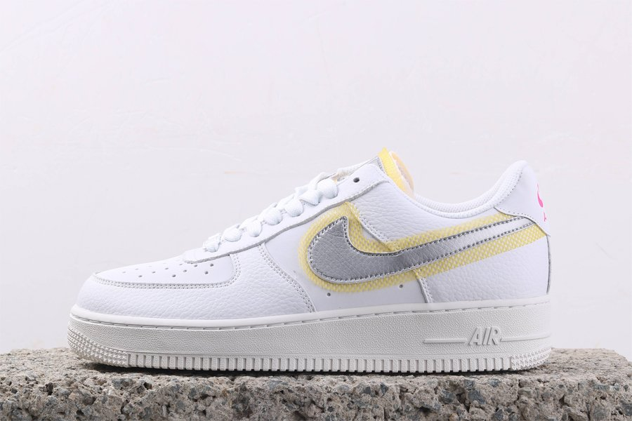 Buy Nike Air Force 1 07 LX Exposed Mesh Grates White Yellow