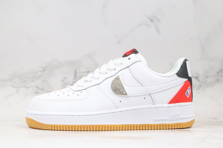 Nike Air Force 1 Low NBA Pack Bright Crimson CT2298-101 For Sale