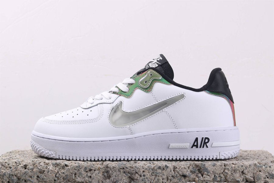Nike Air Force 1 React White With Iridescent Paneling CN9838-100 For Sale