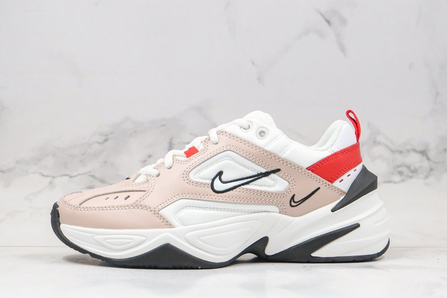 Nike M2K Tekno Fossil Stone Summit White-Red Online Sale