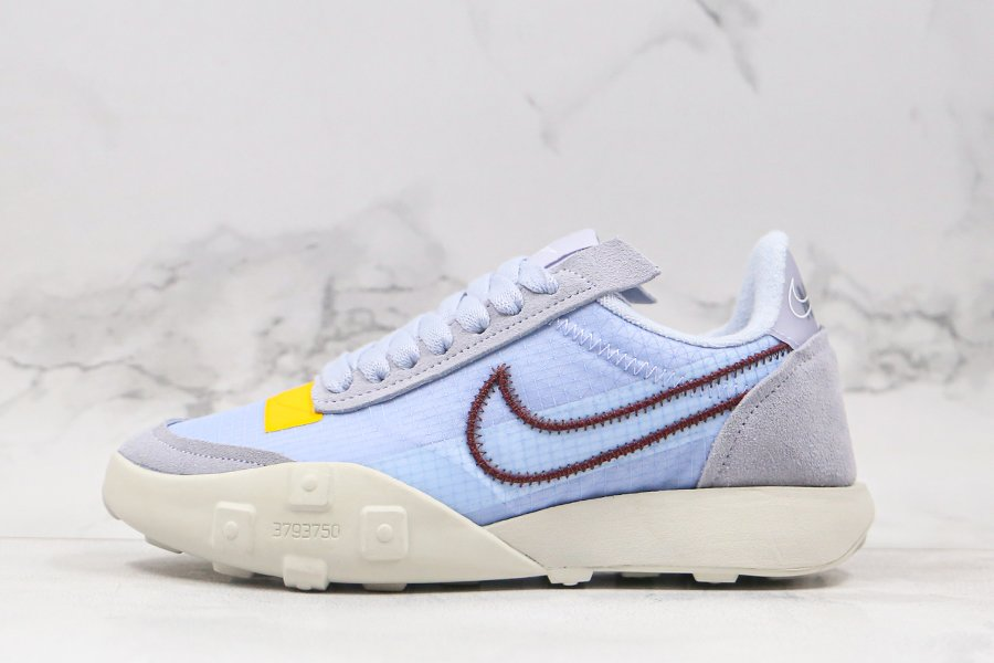 Nike WMNS Waffle Racer 2X Ghost Light Beetroot-Light Bone-White For Sale
