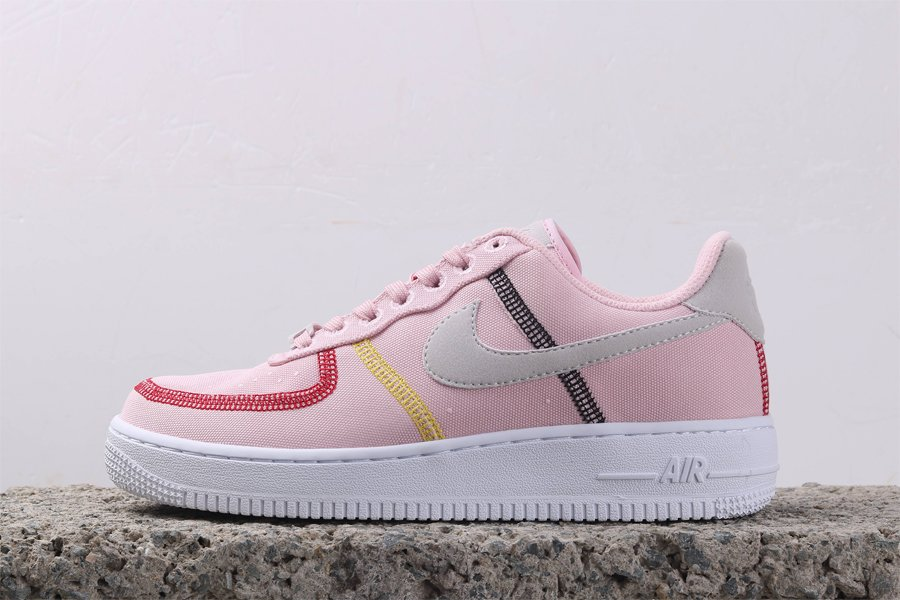 Nike Wmns Air Force 1 07 Low LX Canvas Siltstone Red For Sale