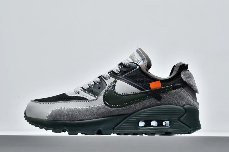 Virgil Ablohs Off-White x Nike Air Max 90 Wolf Grey Olive Green