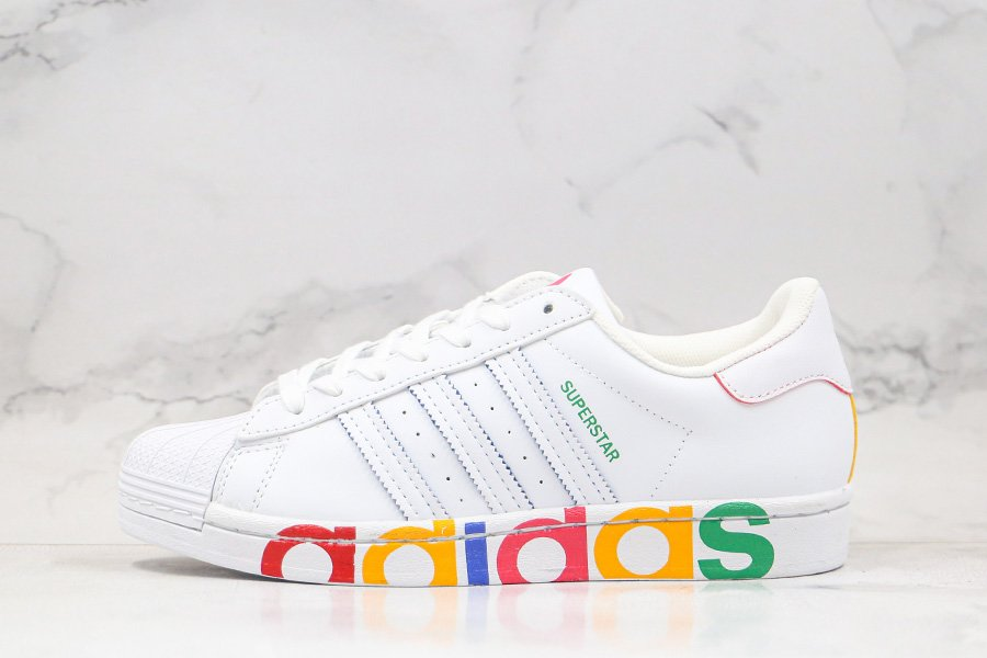 adidas Superstar Olympic White Covers Midsoles With Colorful Typeface