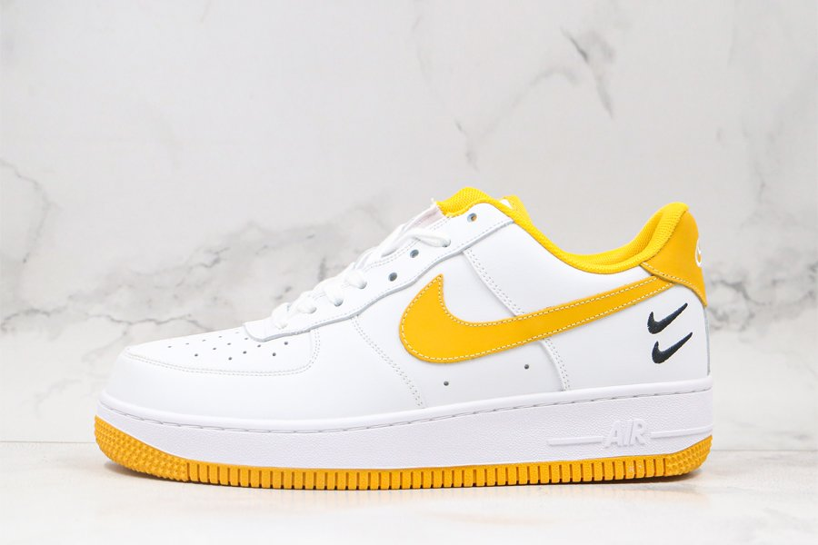 Buy Nike Air Force 1 Low White Yellow With Double-stacked Swoosh