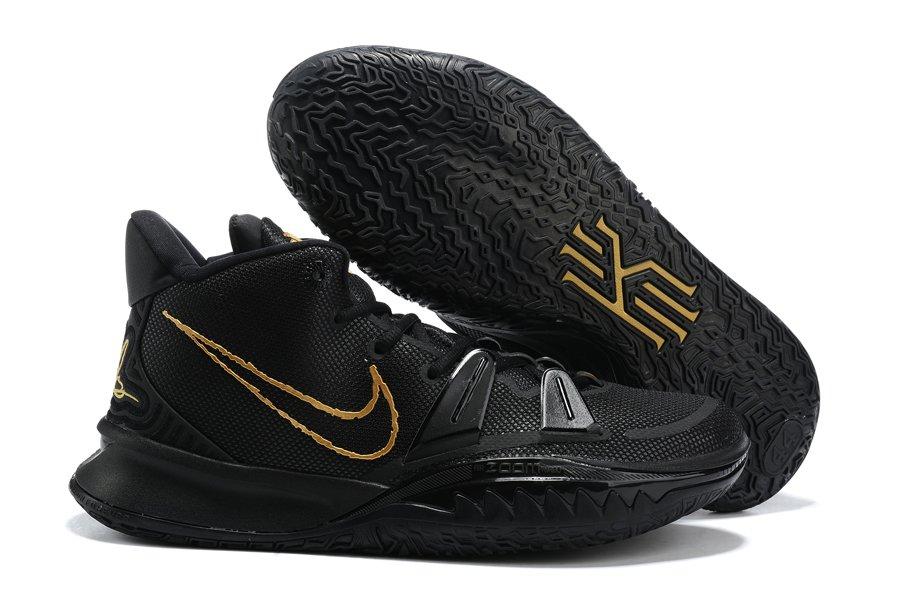 New Nike Kyrie 7 Black Gold Cheap Sale