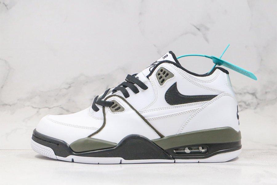 Nike Air Flight 89 White Black Olive Mens