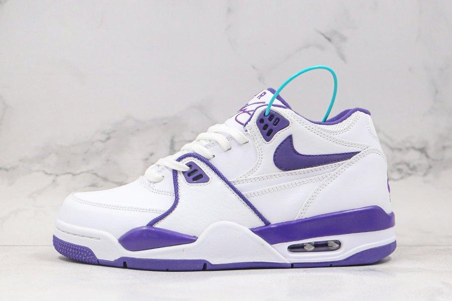 Nike Air Flight 89 White Court Purple CN0050-101 On Sale