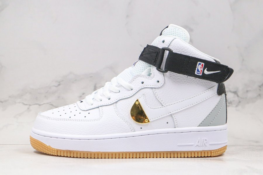Nike Air Force 1 High NBA Pack White With Gold Plate CT2306-100 Sale