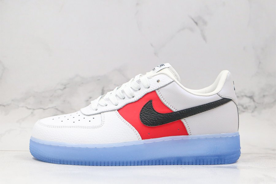 Nike Air Force 1 Low EMB With Icy Soles White Red CT2295-110 Sale